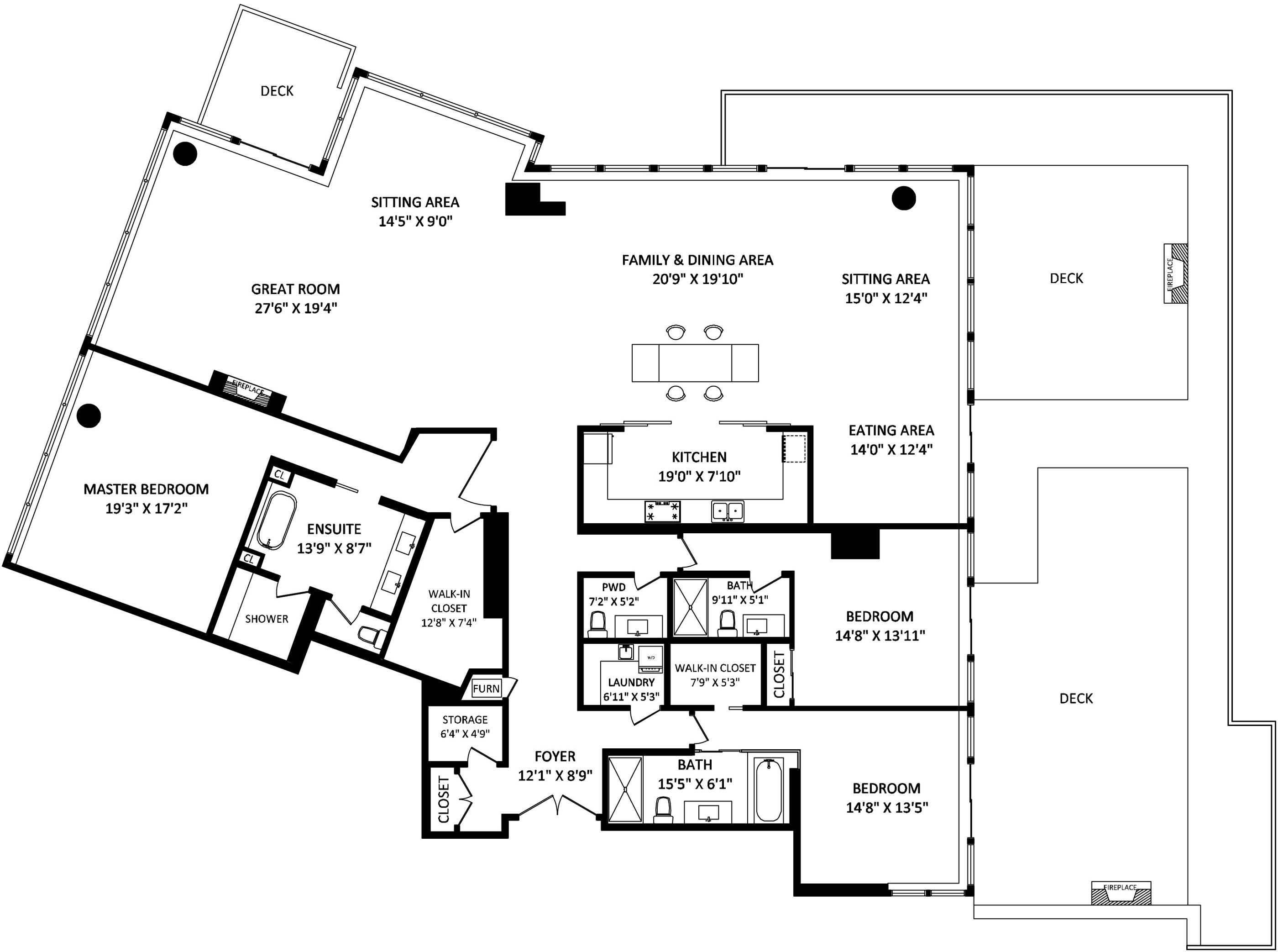 Floor Plan, Beautiful Apartment with Amazing Views in Vancouver, Canada
