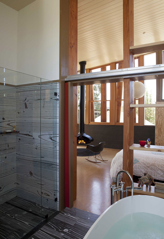Bathroom, Glass Shower Door, Bedroom, Wonderful Renovation and Addition in Venice, California