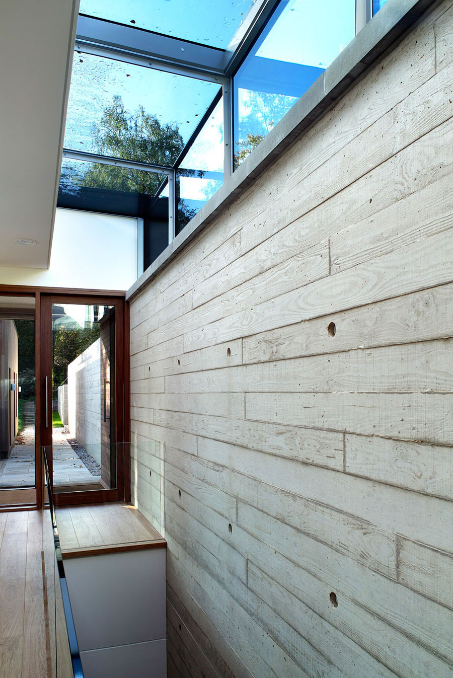 Glass & Wood Entrance, Contemporary Home in the New Forest National Park, England