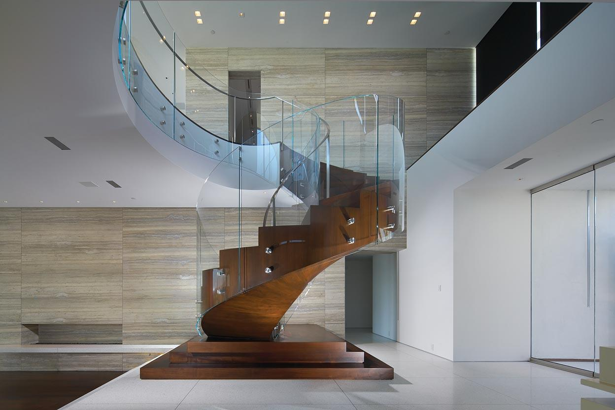 Glass & Wood Stairs, Remodel and Addition in Orange County, California