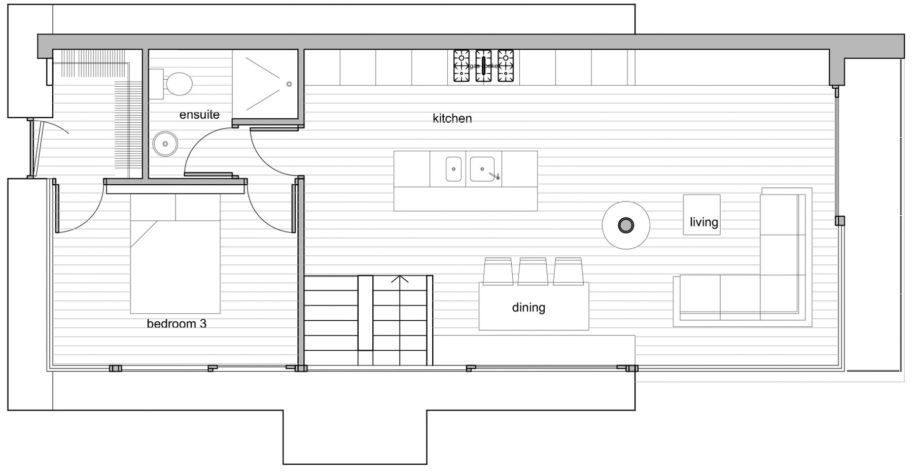 Ground Floor Plan, Barn Conversion in Broughshane, Northern Ireland
