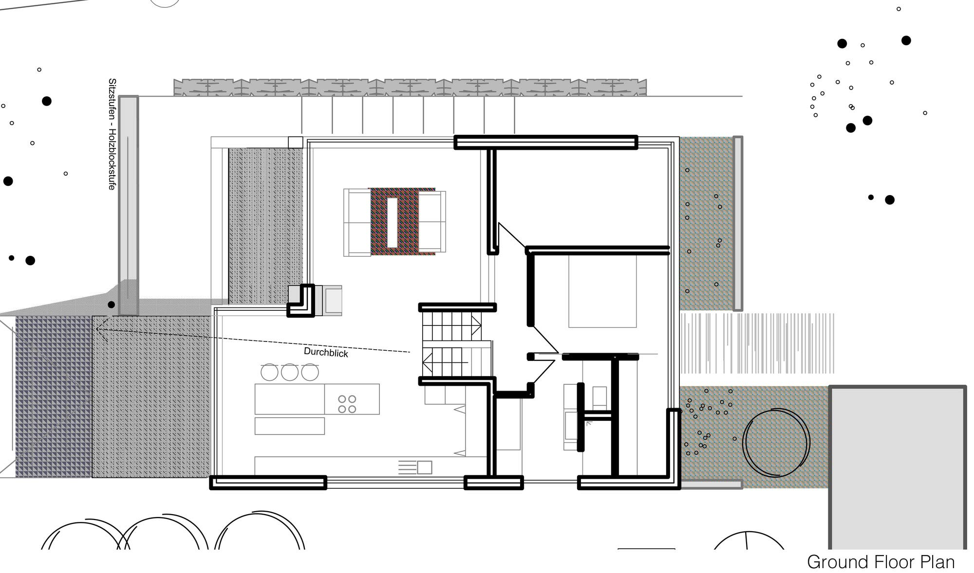 Contemporary split level home in aalen germany for Split house plans