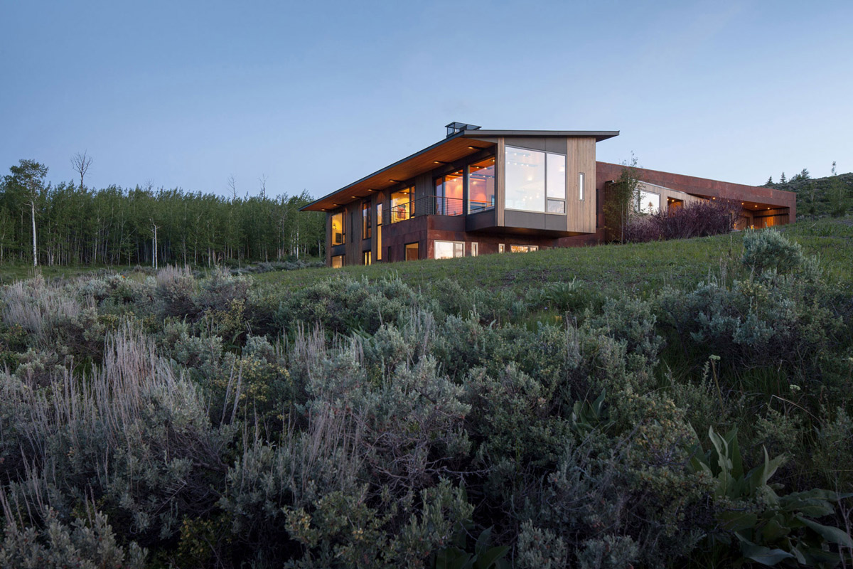 Hillside House in Jackson, Wyoming