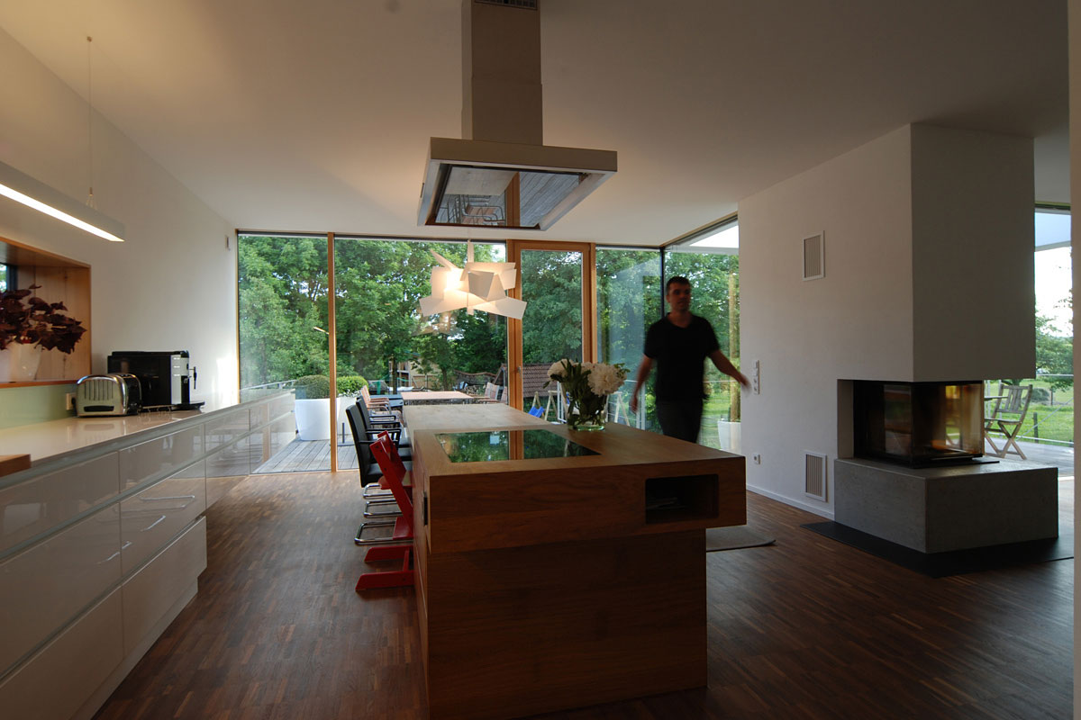 Kitchen Island, Home Split Level Home in Aalen, Germany