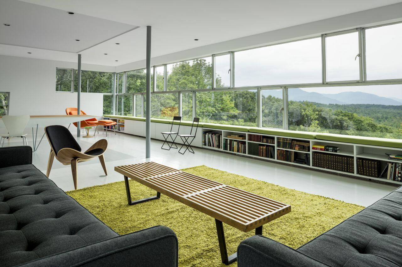 Living Room, Sofas, Catskill Mountain Views, Unique Treetop Home in Upstate New York