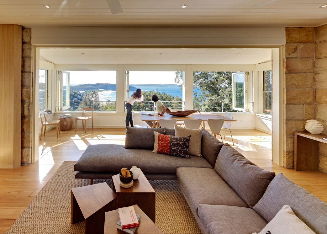 Living, Dining Area, Water Views, Extension and Addition in Palm Beach, Sydney