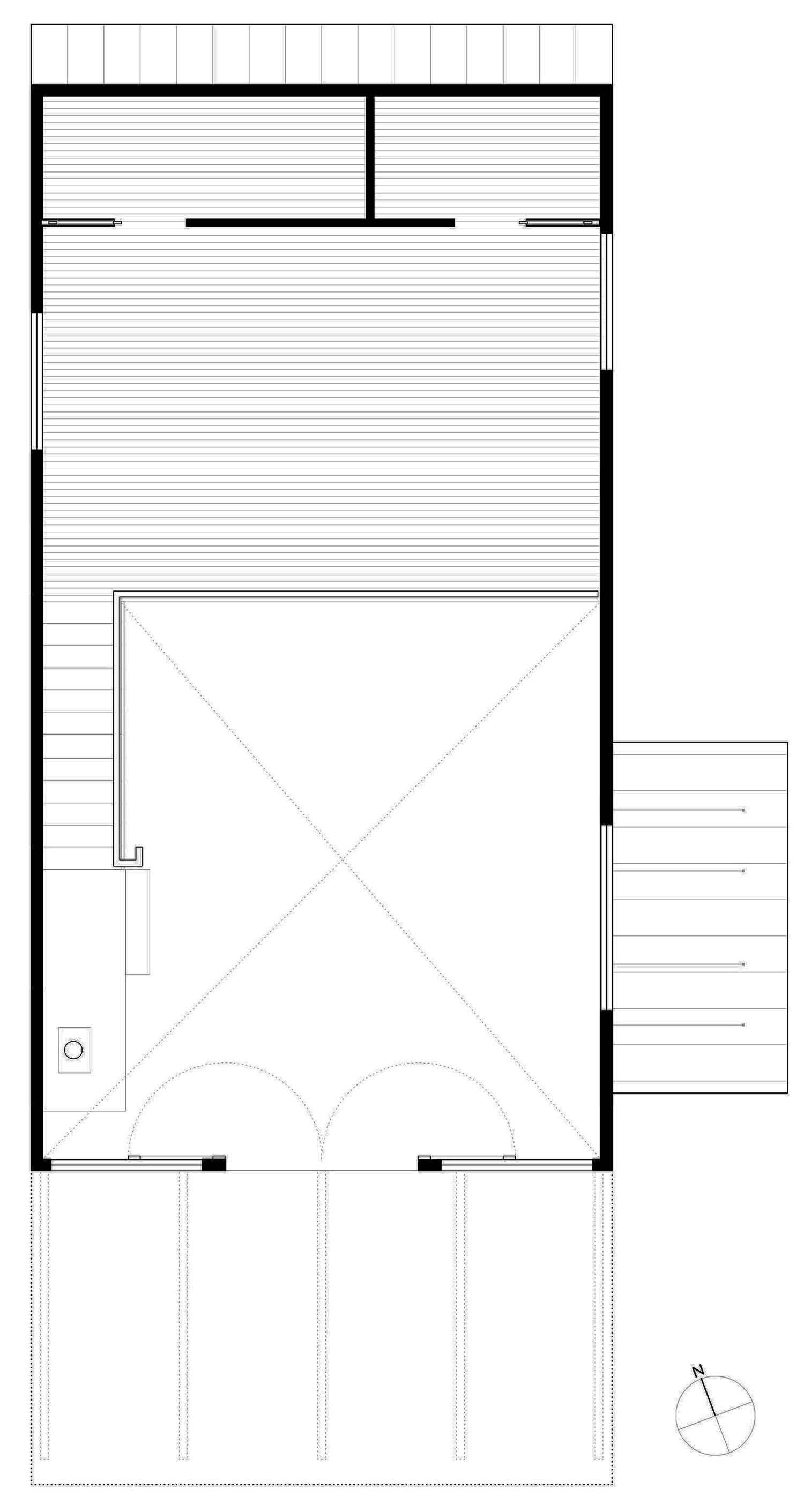 Mezzanine Floor Plan, Simple Eco-Friendly Home Perched Above Lake Buchanan, Texas