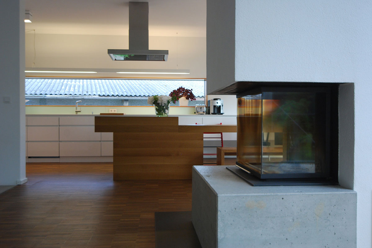 Modern Fireplace, Home Split Level Home in Aalen, Germany