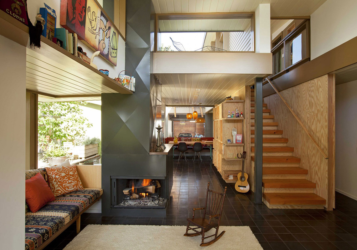 Open Plan Living, Stairs, Wonderful Renovation and Addition in Venice, California
