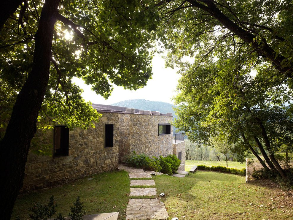 Pathway, Garden, Modern Home in Prato, Italy