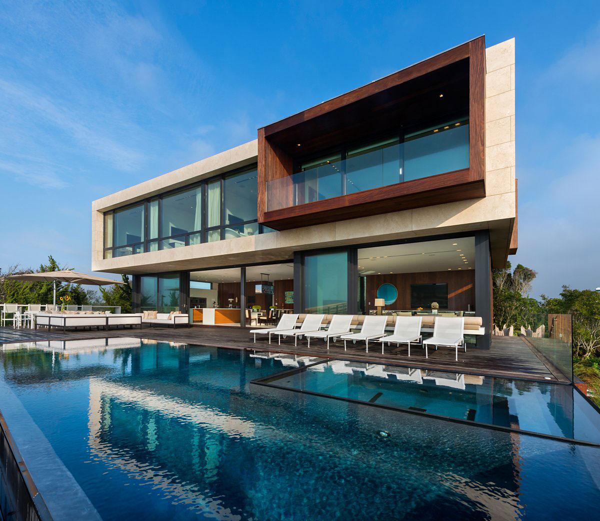 Pool, Jacuzzi, Terrace, Oceanfront Home in Sagaponack, New York