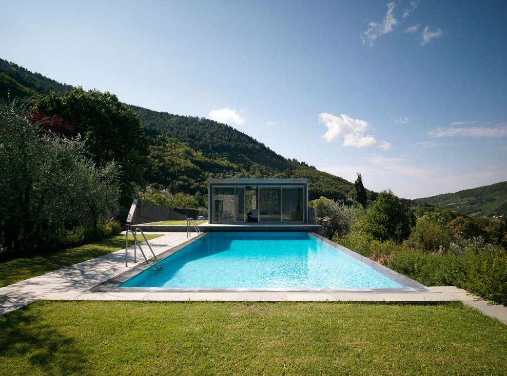Pool, Valley Views, Modern Home in Prato, Italy