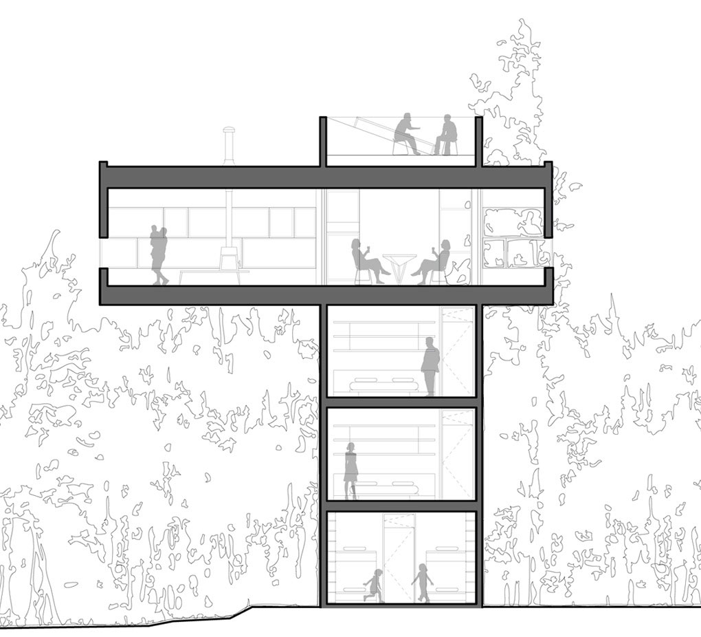 Section, Unique Treetop Home in Upstate New York
