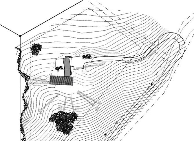 Site Plan, Hillside House in Jackson, Wyoming