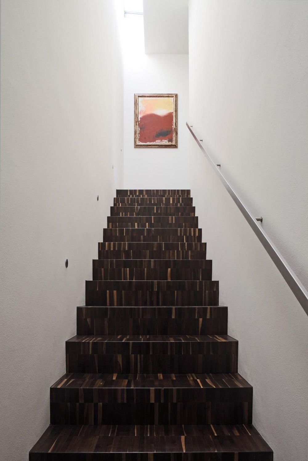 Stairs, Art, Modern Eco-Friendly Home in Castelnovo di Sotto, Italy