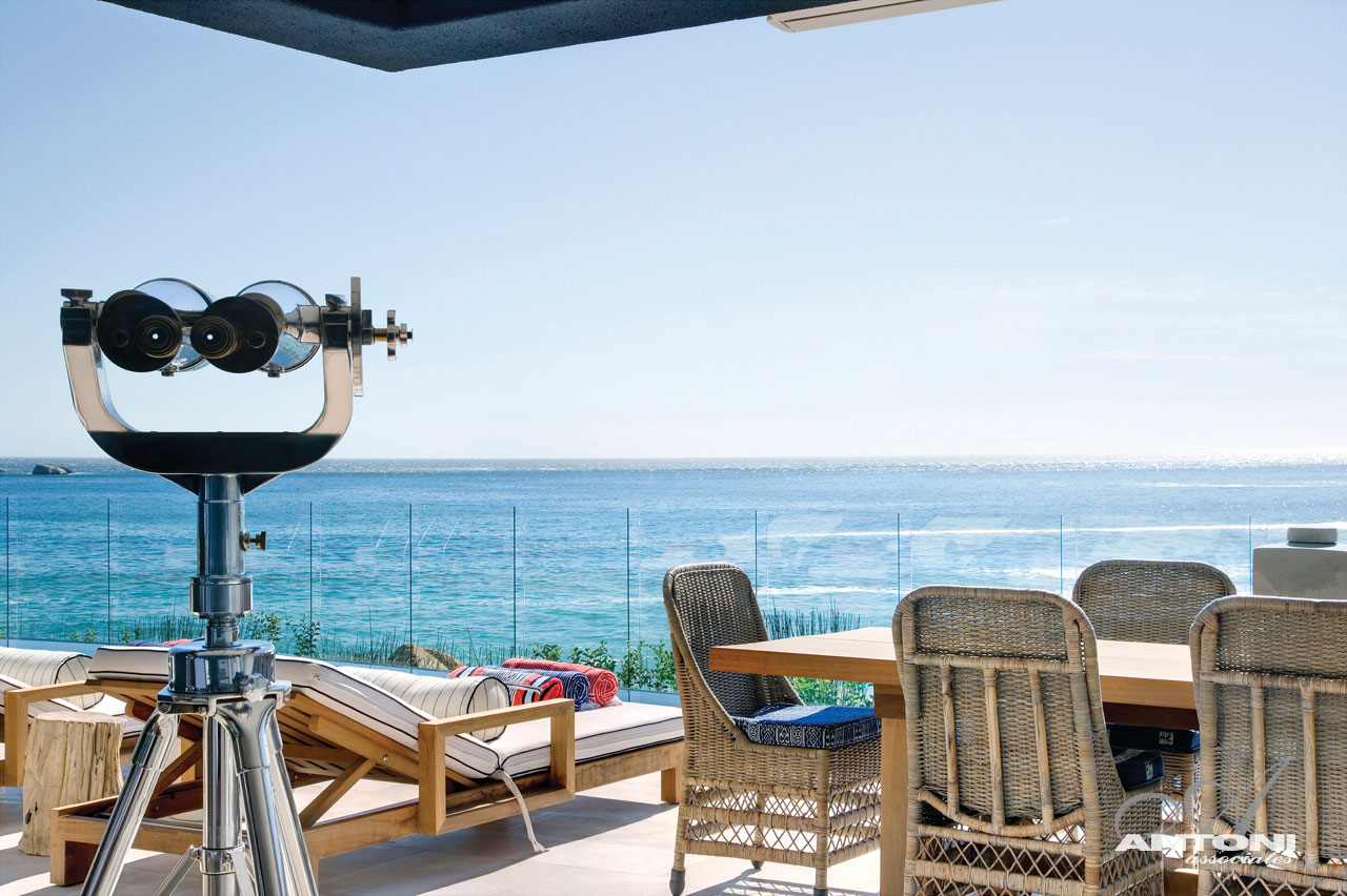 Terrace, Glass Balustrading, Seaside Home in Clifton Beach, Cape Town