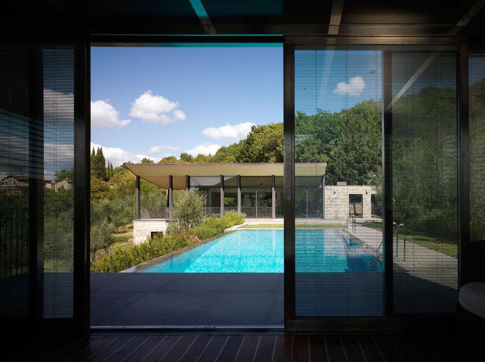 Terrace, Pool, Patio Doors, Modern Home in Prato, Italy