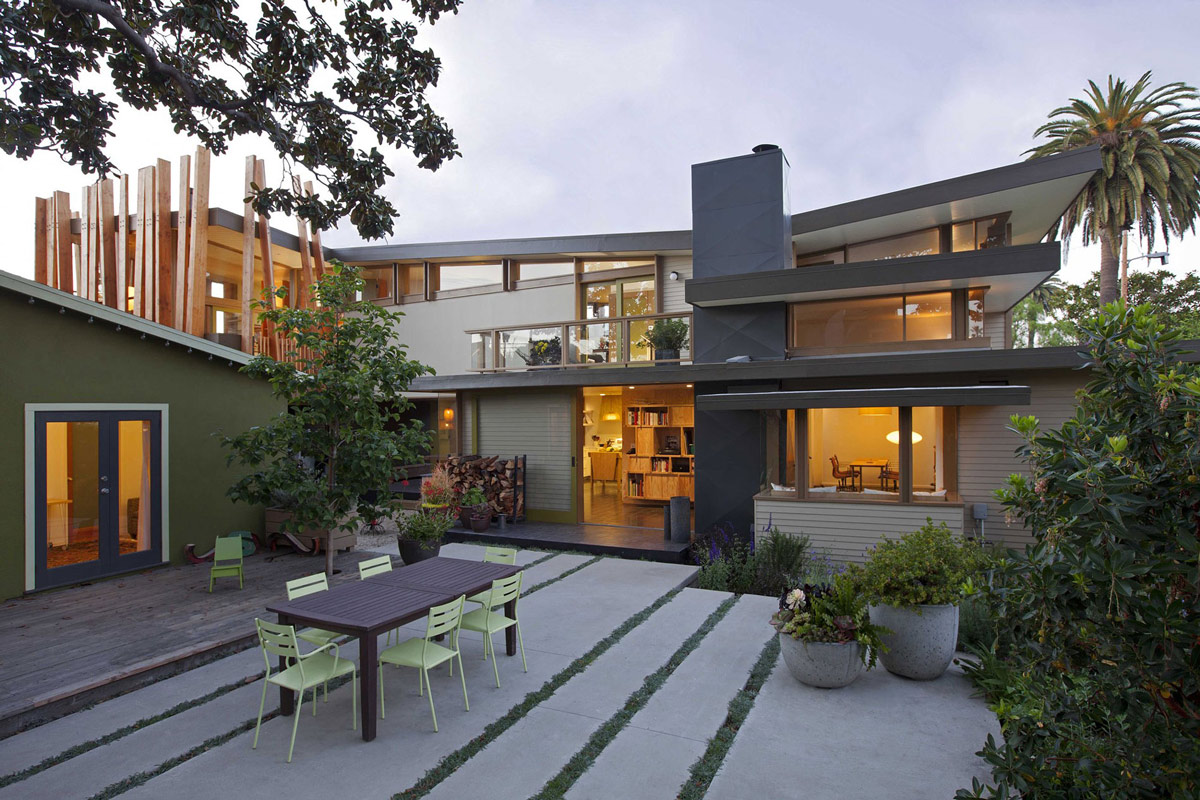 Terrace, Wonderful Renovation and Addition in Venice, California