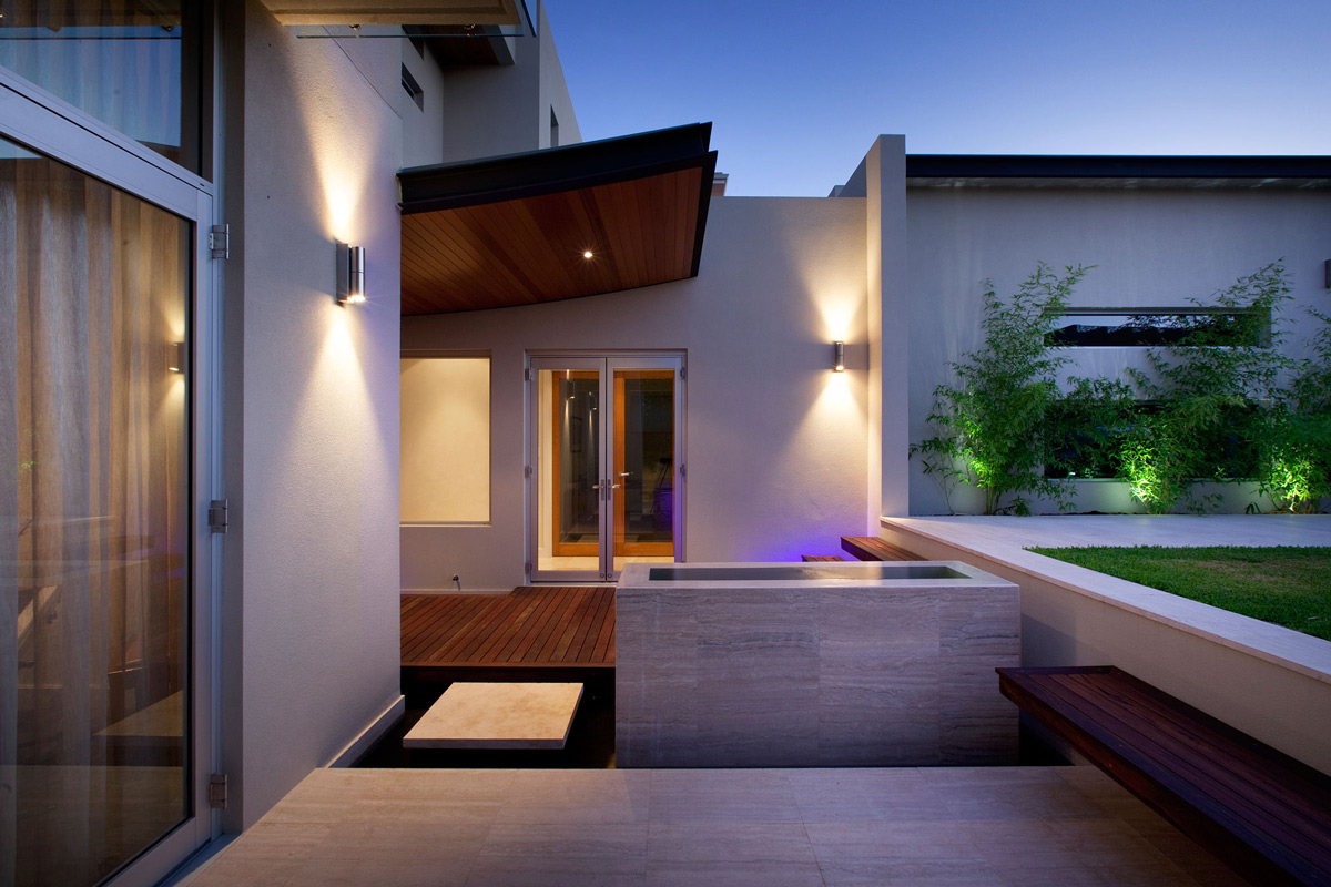 Water Feature Step Stunning Riverside Home In Perth