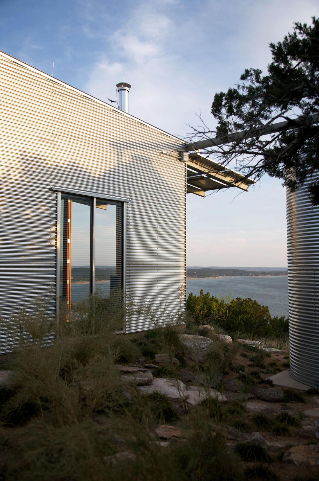 Water Tank, Simple Eco-Friendly Home Perched Above Lake Buchanan, Texas