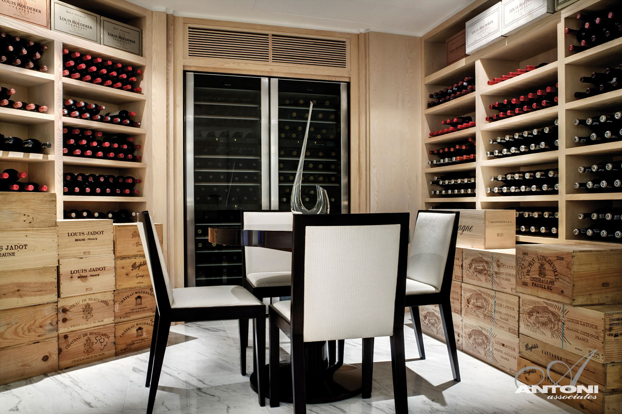 Wine Room, Seaside Home in Clifton Beach, Cape Town