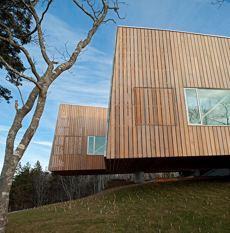 Wood Cladding, Home in Port Mouton, Nova Scotia