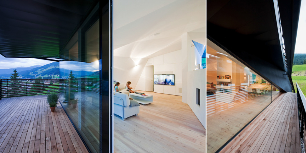 Balcony, Glass Walls, Wood Flooring, Paramount – Alma Residence in Sesto, Italy