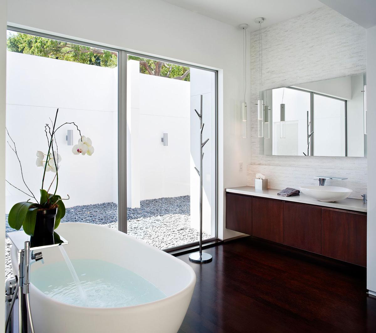 Bathroom, Eco-Friendly Contemporary Home in Winter Haven, Florida