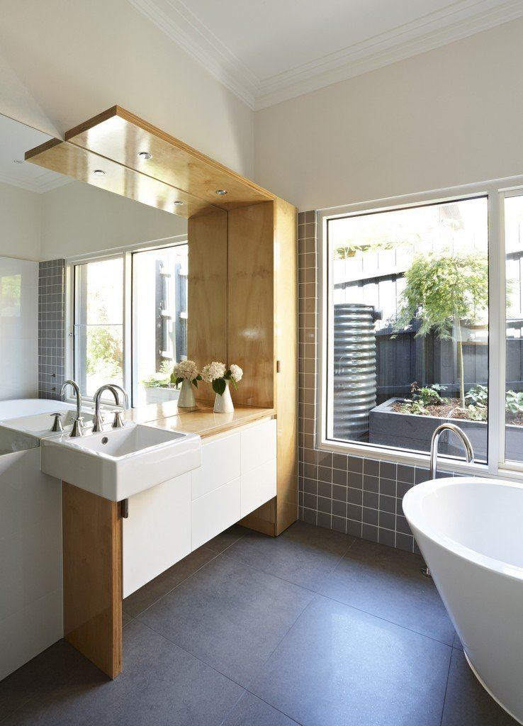 Modern renovation extension in melbourne australia Modern australian bathroom design