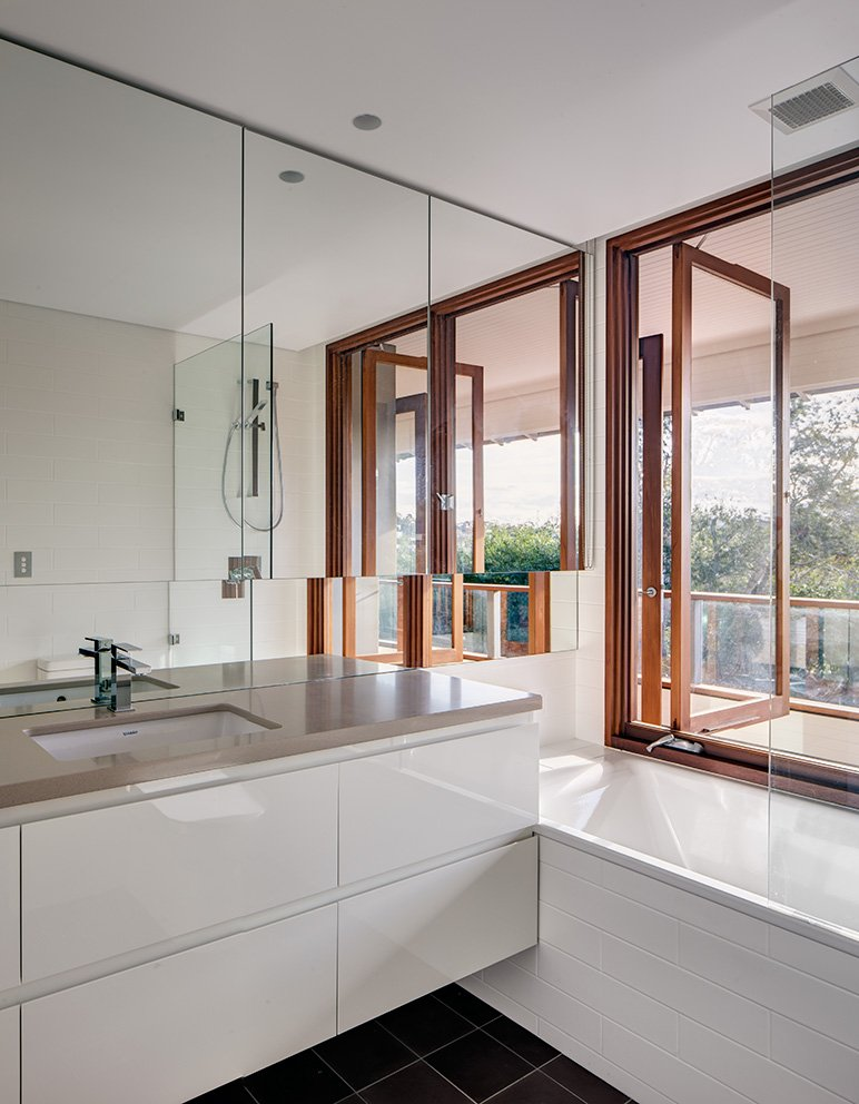 Bathroom, Mirror, Contemporary Home in Sydney Australia