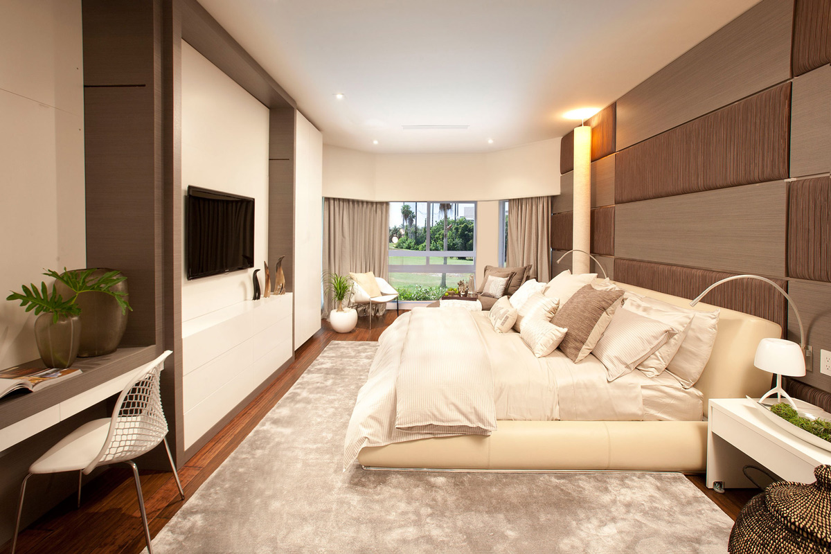 Stylish interior in miami florida for Beautiful bed designs