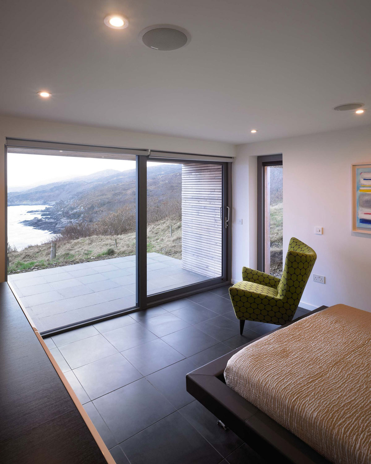 Bedroom, Contemporary Home on the Isle of Skye, Scotland