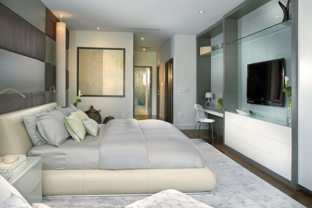 Bedroom, Stylish Interior Design in Miami, Florida