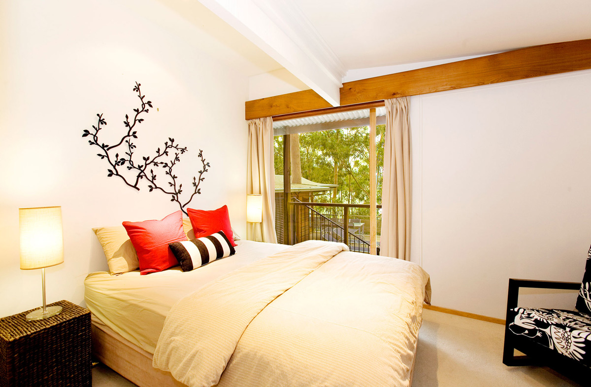 Bedroom, Treetops Holiday Home in Sydney, Australia
