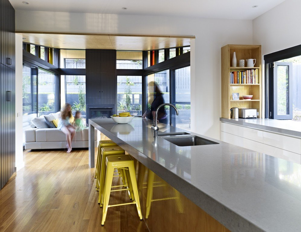 Modern Breakfast Bar breakfast bar, kitchen, modern renovation & extension in melbourne
