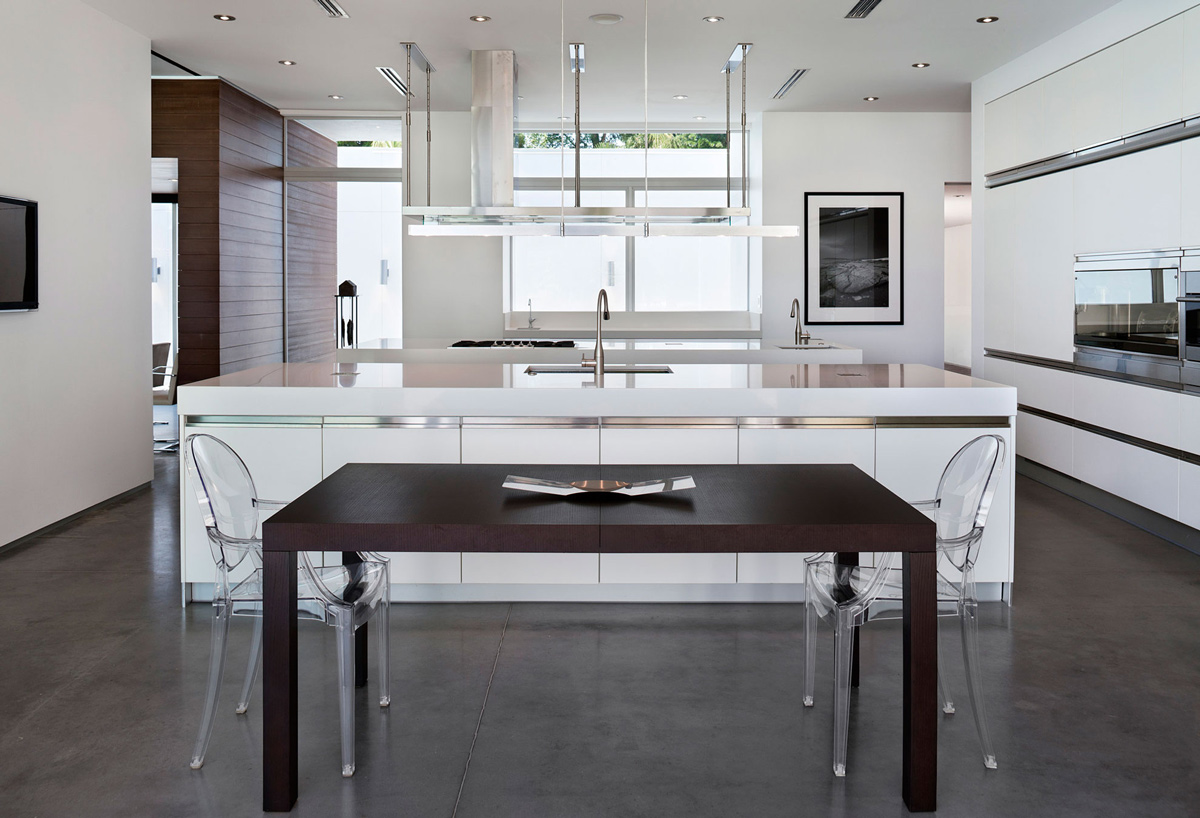 Breakfast Table, Kitchen Island, Eco-Friendly Contemporary Home in Winter Haven, Florida