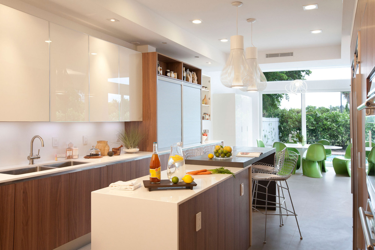 Superb Breakfast Table, Kitchen Island, Stylish Interior Design In Miami, Florida