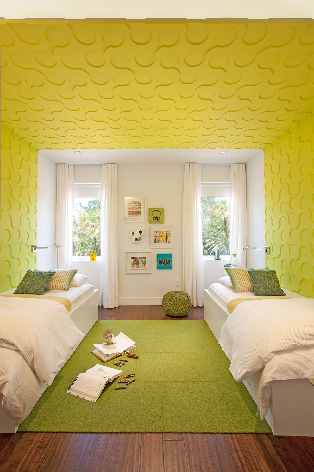 Bright Children's Bedroom, Stylish Interior Design in Miami, Florida