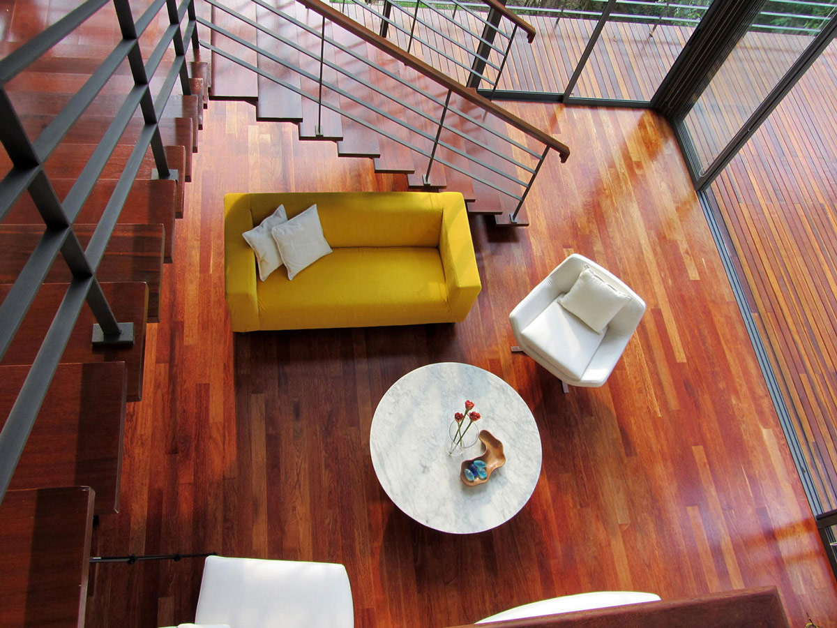 Coffee Table, Sofa, Chairs, Modern Hillside Home in Janda Baik, Malaysia