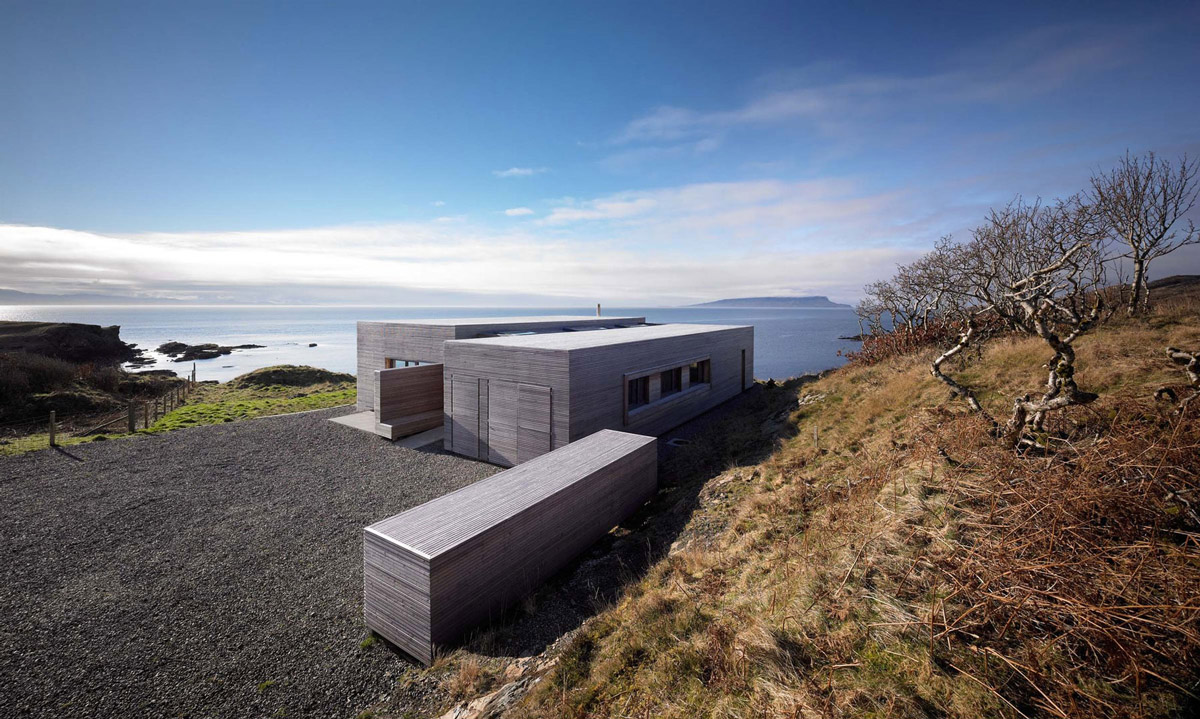 Driveway, Entrance, Contemporary Home on the Isle of Skye, Scotland