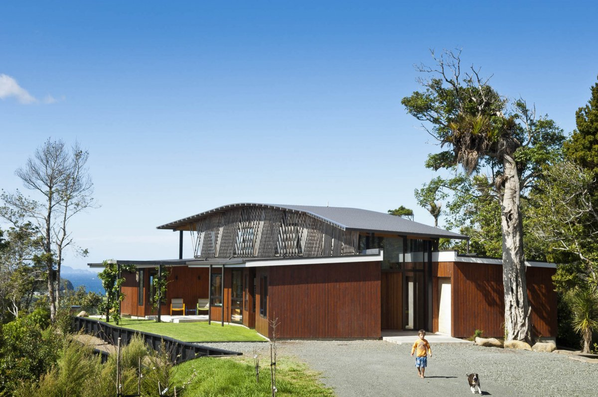 Driveway, Hilltop Home with Stunning Views in Ngunguru, New Zealand