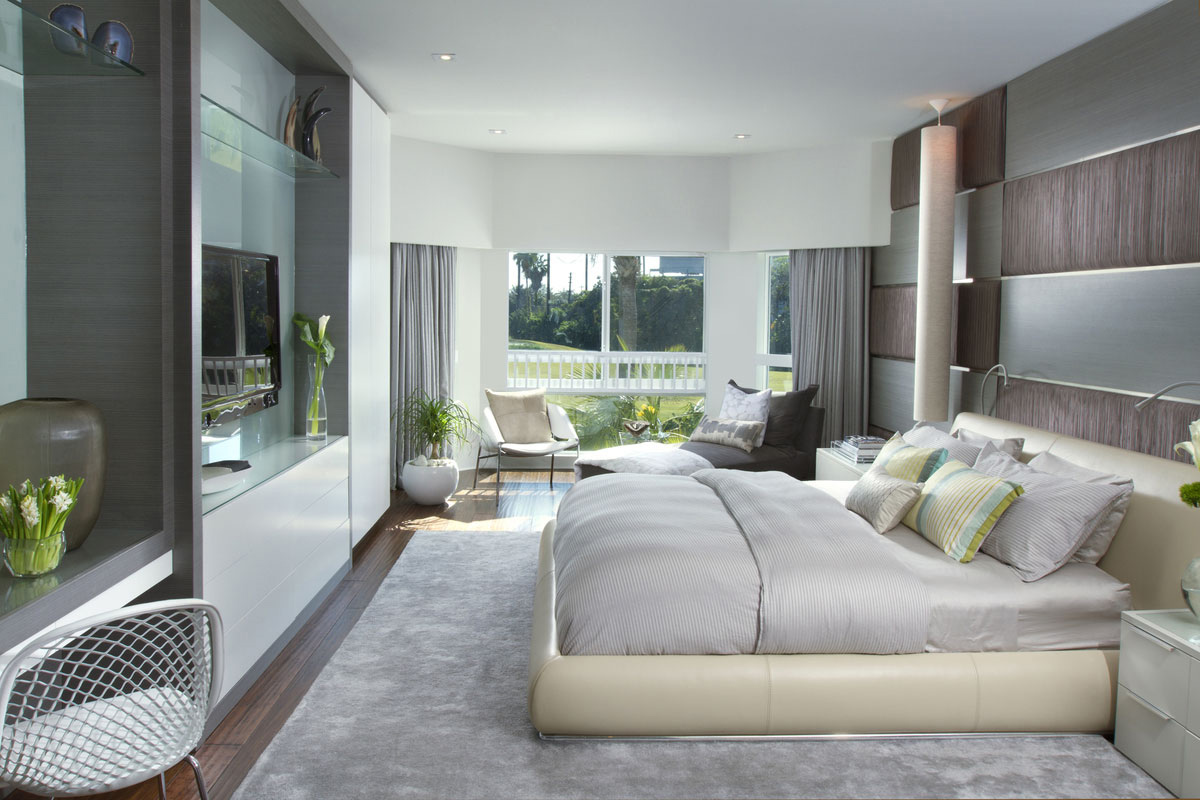 Stylish interior in miami florida for Luxury modern bedroom
