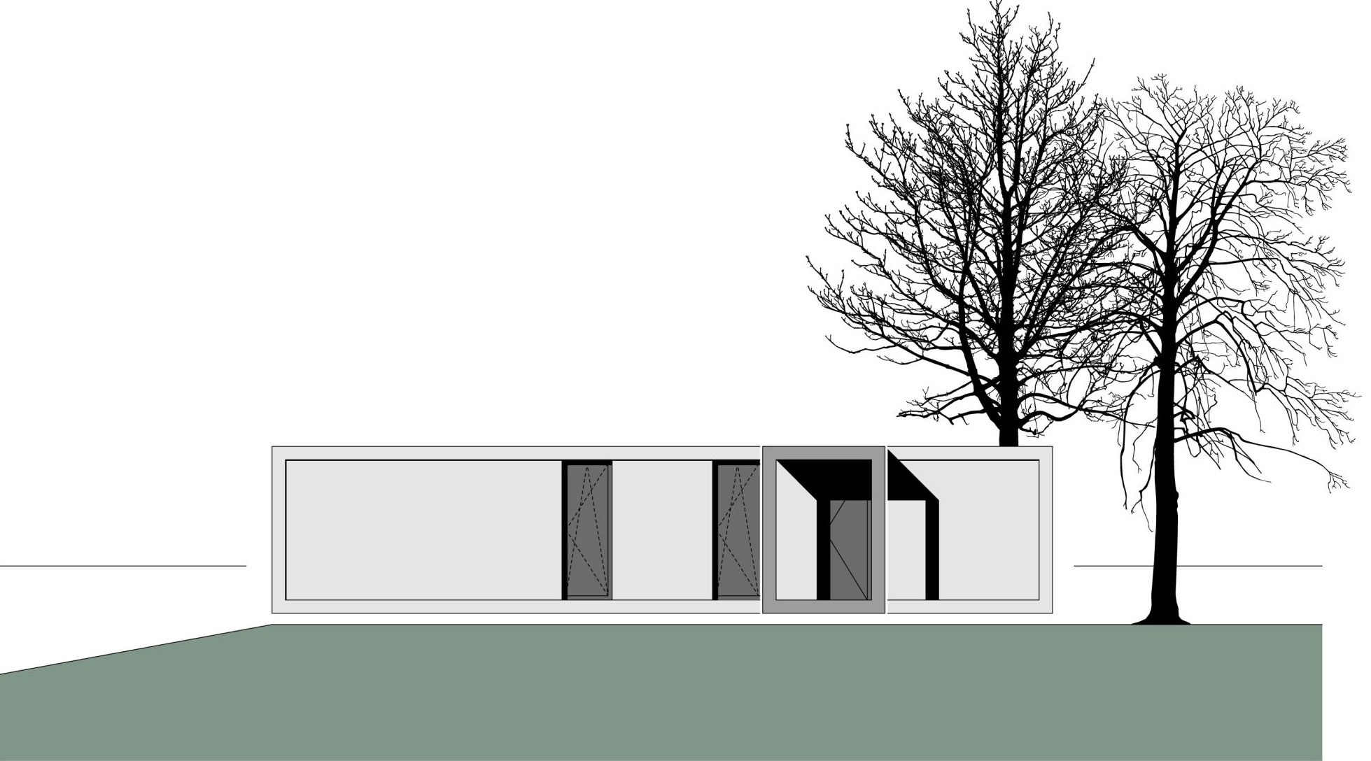Elevation, Container House in Kall, Germany