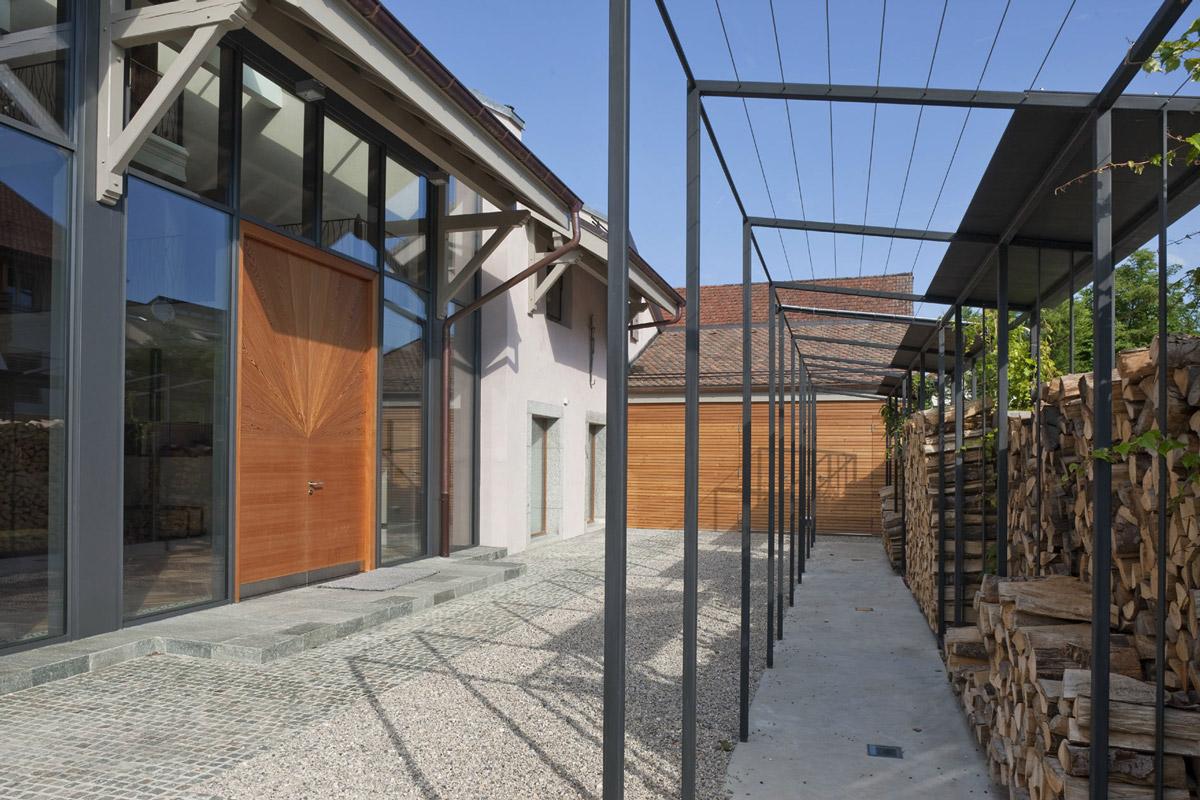 Entrance, Farmhouse Conversion in Genf, Switzerland