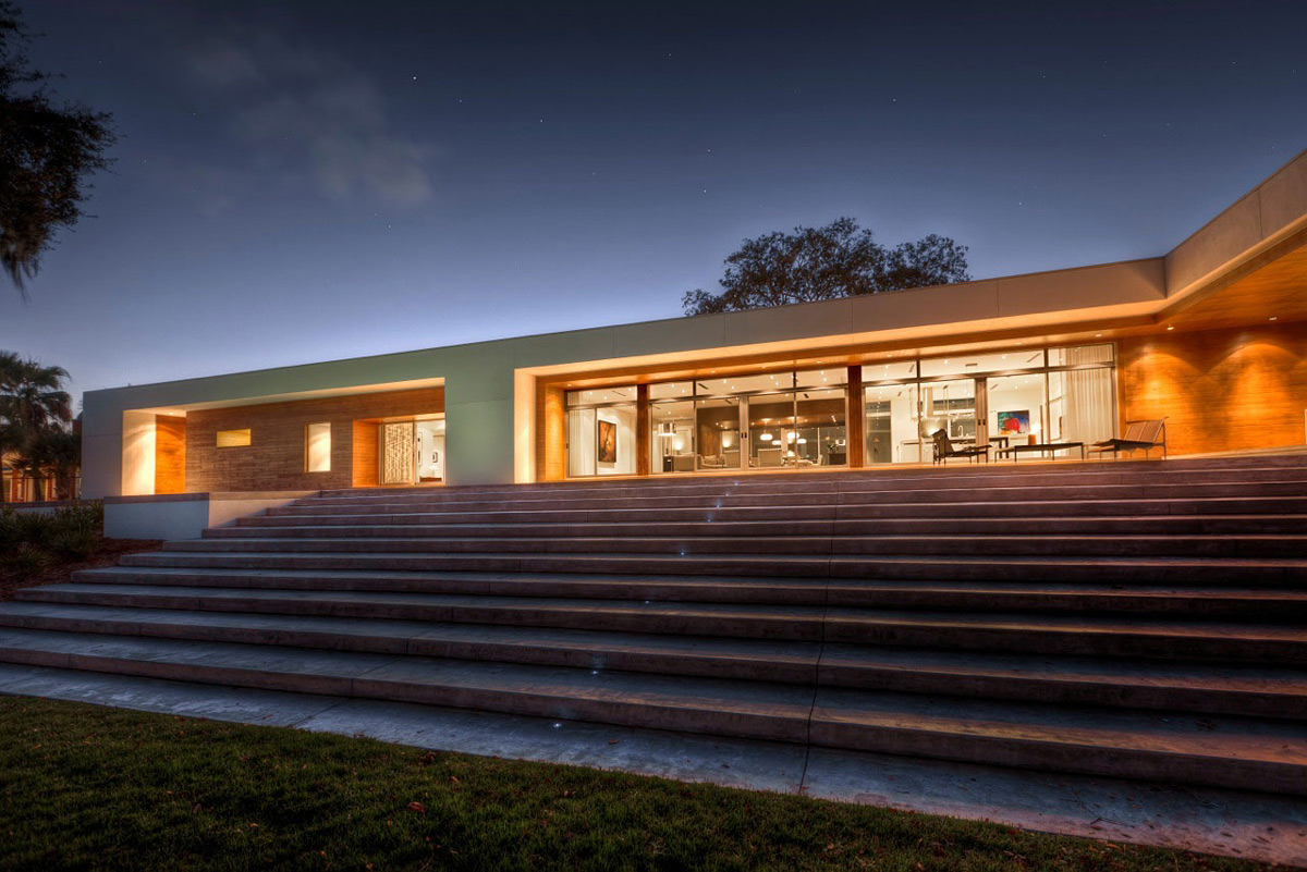 Evening Lighting, Eco-Friendly Contemporary Home in Winter Haven, Florida