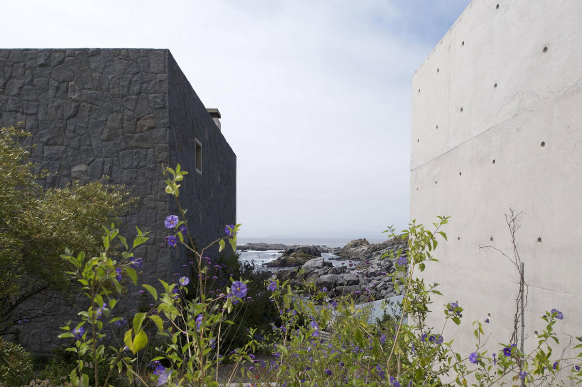 Exposed Concrete, Oceanfront Holiday Houses in Punta Pite, Chile