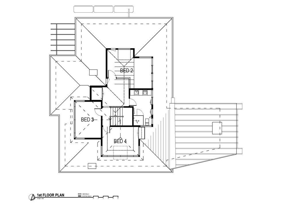 First Floor Plan, Modern Renovation & Extension in Melbourne, Australia