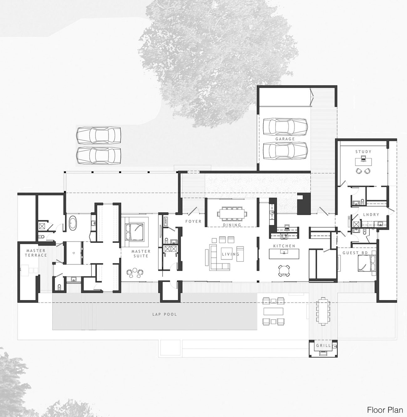 Floor Plan, Eco-Friendly Contemporary Home in Winter Haven, Florida