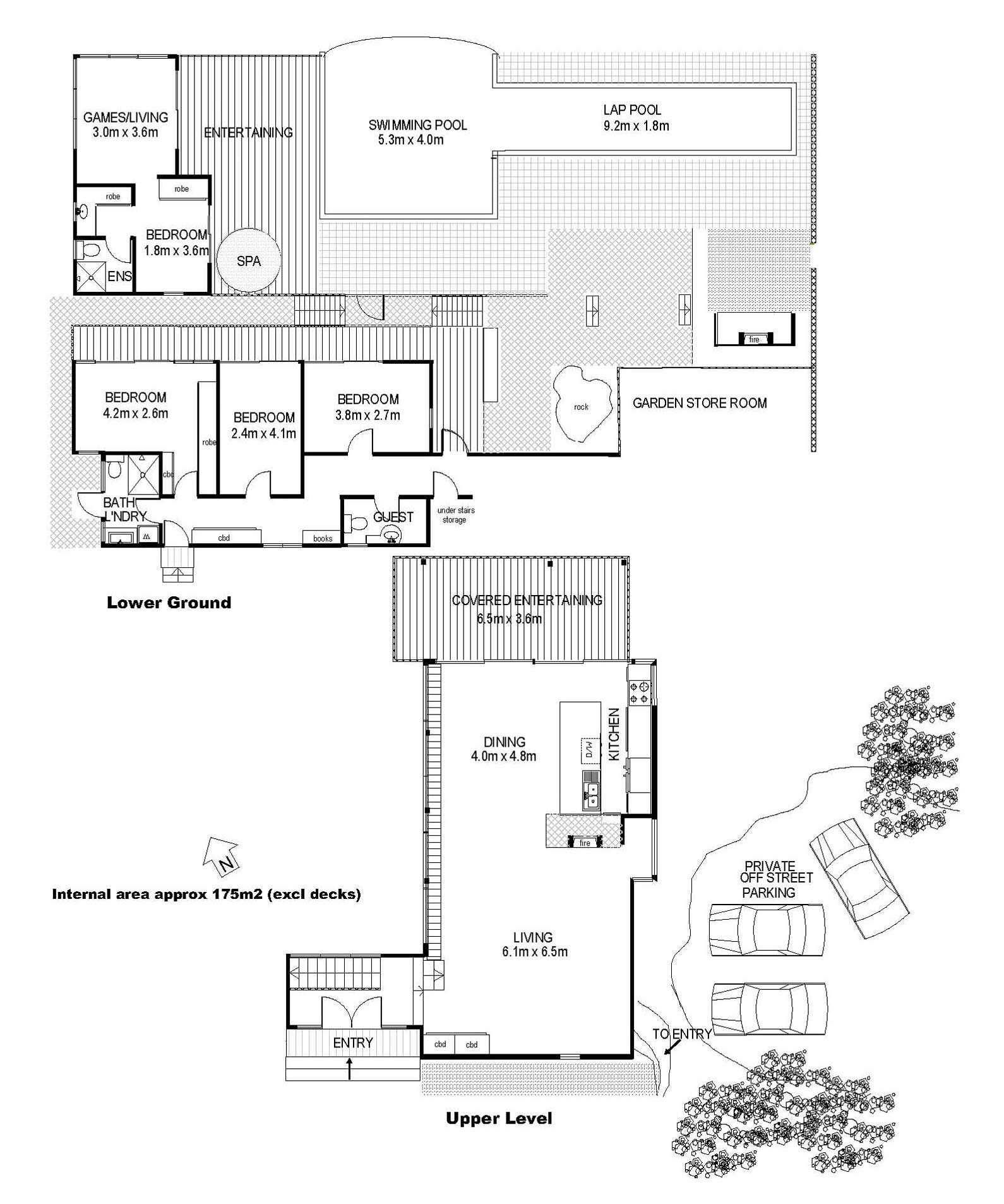 Floor Plans, Treetops Holiday Home in Sydney, Australia