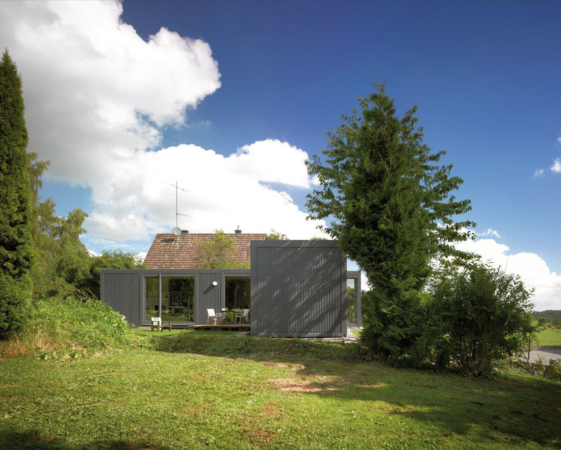 Garden, Container House in Kall, Germany